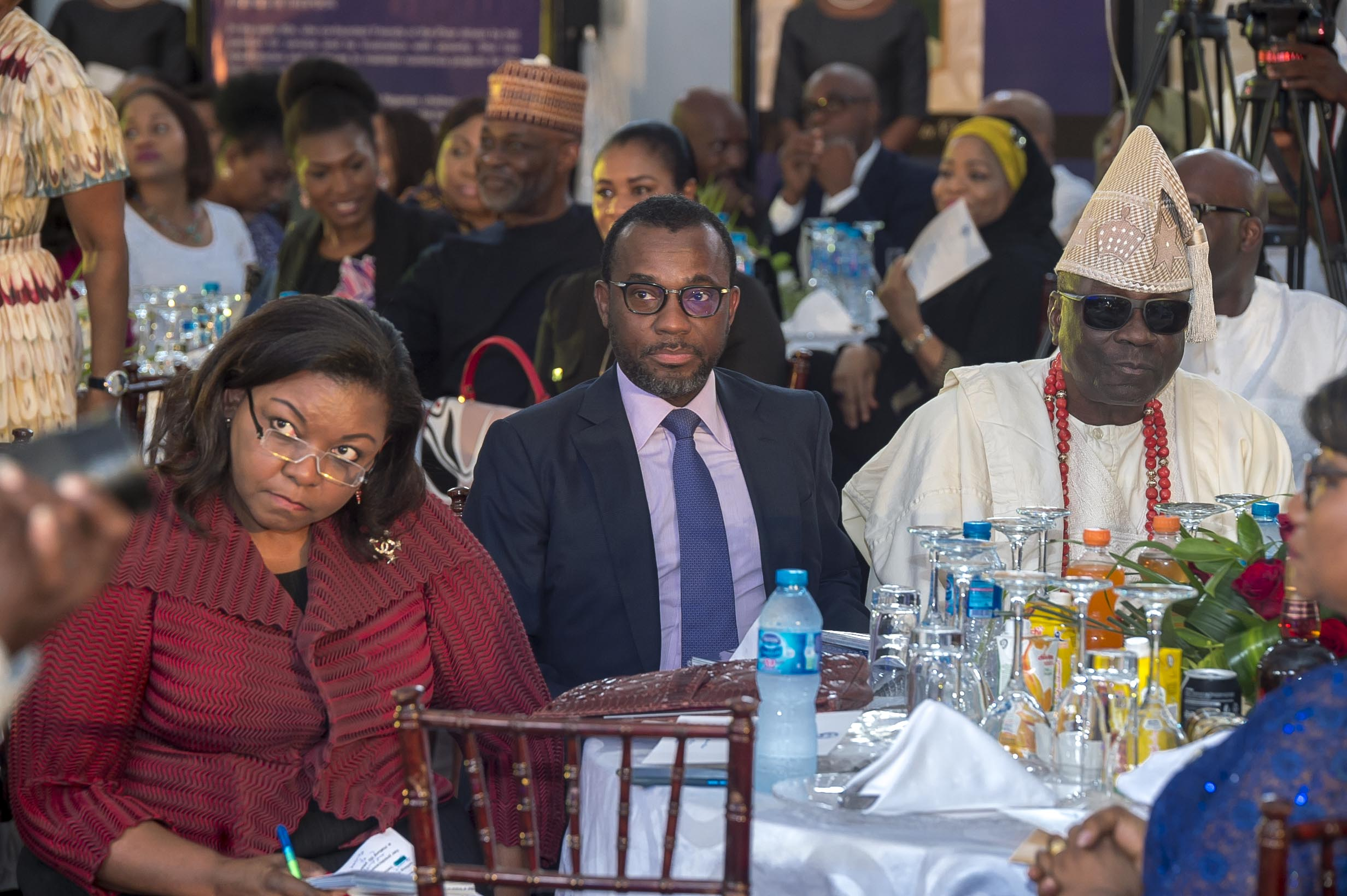 Mrs Bola Adesola & Mr Mofe Boyo DGMD Oando PLC & His Royal Majesty Oba Akiolu Oba of Lagos