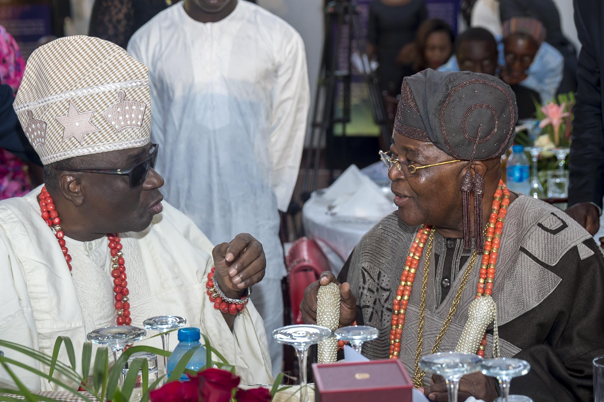 Oba of Lagos, Oba Rilwan Aremu Akiolu and Alake of Egba Land Oba Michael Adedotun Gbadebo
