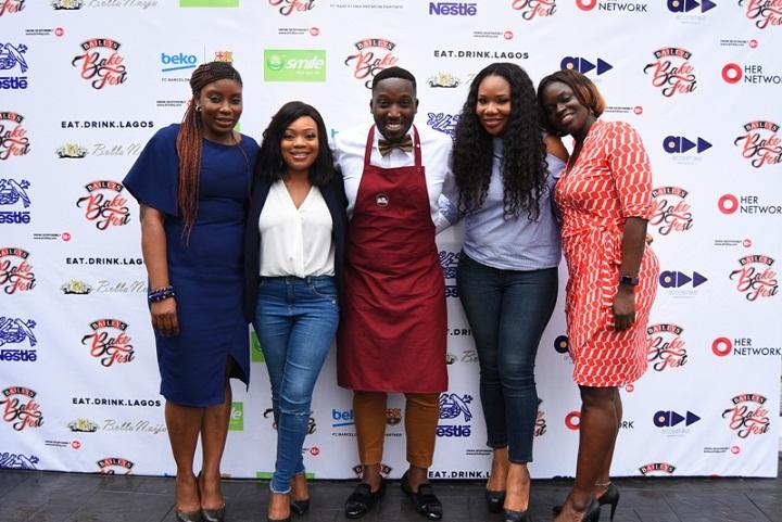 Baileys Brand Manager- Ufuoma Udjoh, Baileys BakeFest Judges - Ify Monye Mogekwu, Tolu Eros, Lara Rawa & Portfolio Director Spirits, Diageo- Adenike Adebola