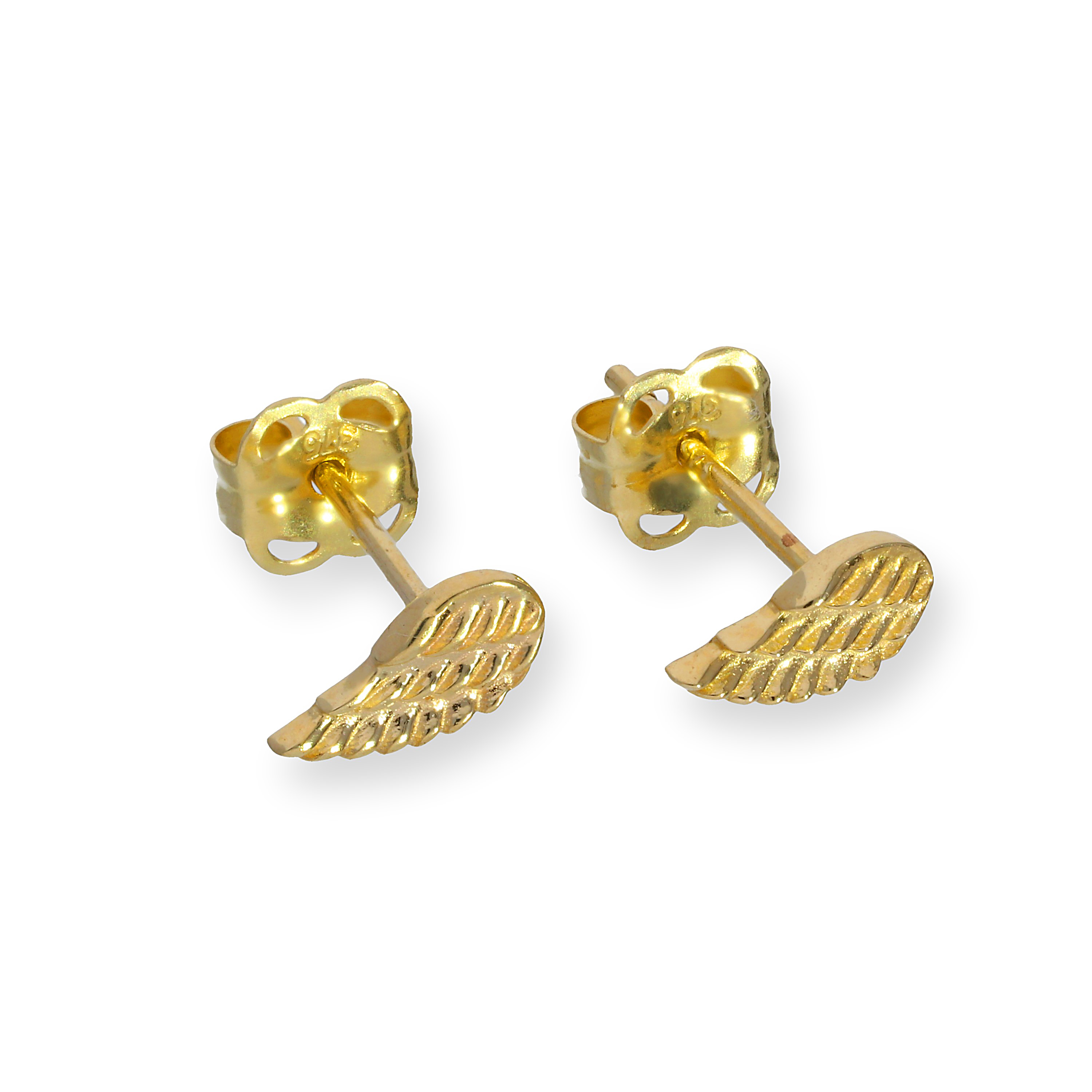 JSK-002_9ct_Gold_Angel_Wing_Stud_Earrings